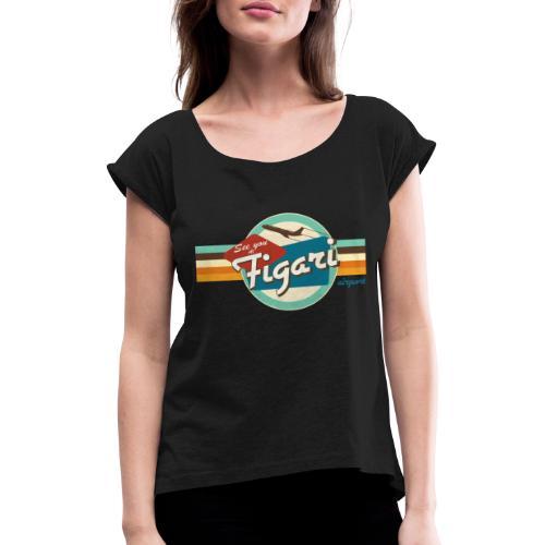 see you at figari - T-shirt à manches retroussées Femme