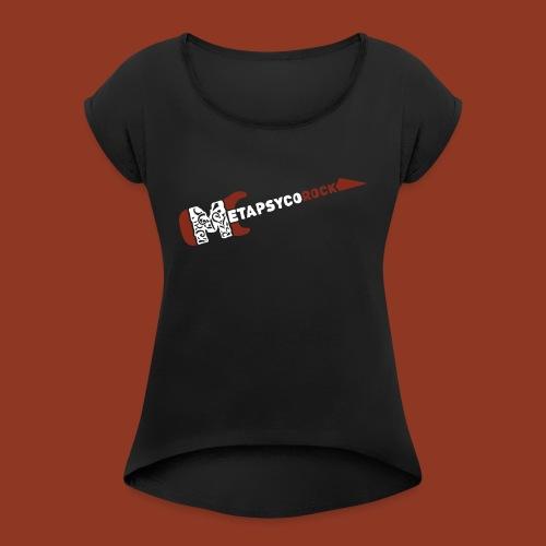 METAPSYCOROCK - Maglietta da donna con risvolti