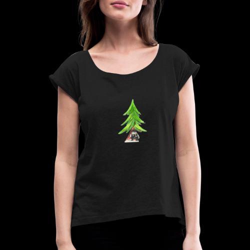 Anne unter der Tanne - Frauen T-Shirt mit gerollten Ärmeln
