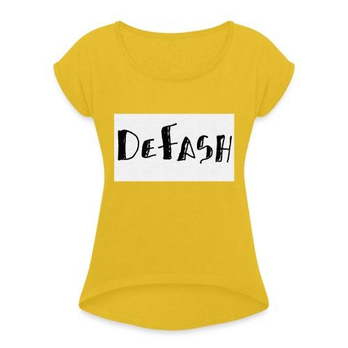 Defash1-png - T-shirt à manches retroussées Femme
