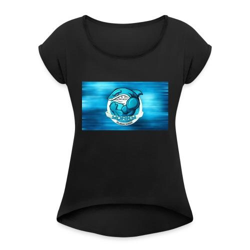 Shark_logo - Maglietta da donna con risvolti