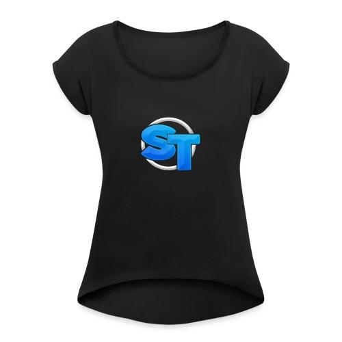 Stunt TV Tas - Vrouwen T-shirt met opgerolde mouwen