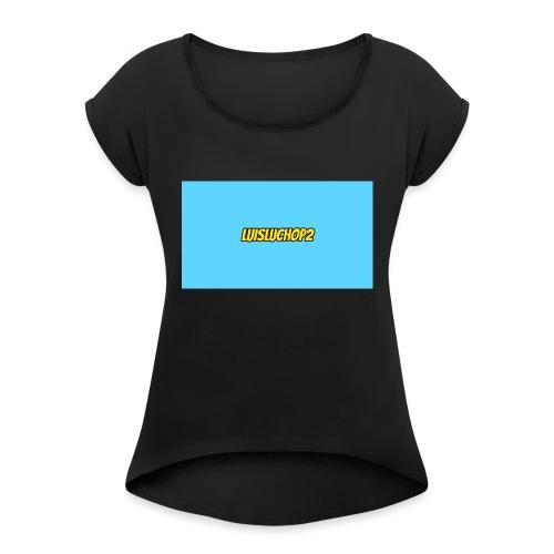 T-SHIRT - T-shirt à manches retroussées Femme