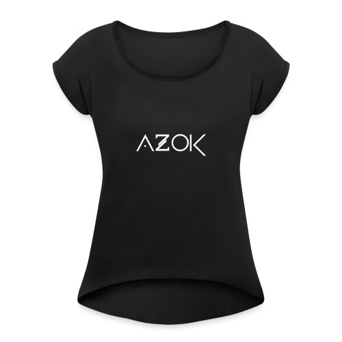 Azok Hoodie Red - Women's T-Shirt with rolled up sleeves