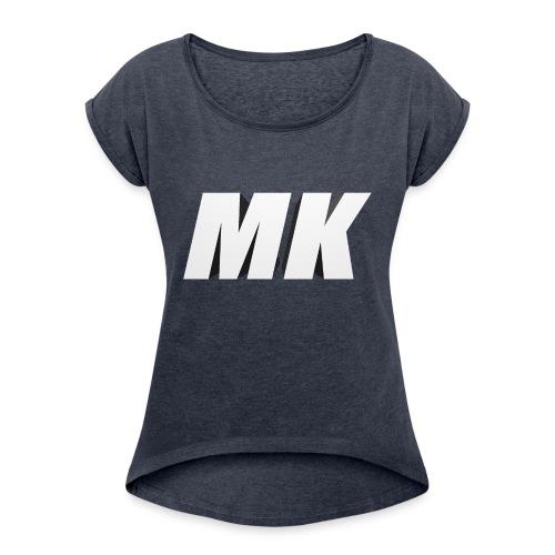 MK 3D - Vrouwen T-shirt met opgerolde mouwen