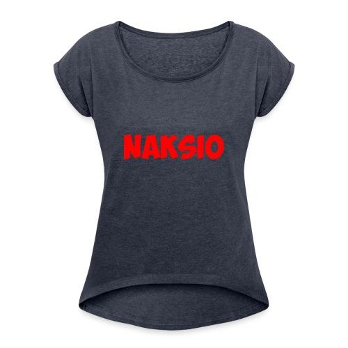 T-shirt NAKSIO - T-shirt à manches retroussées Femme
