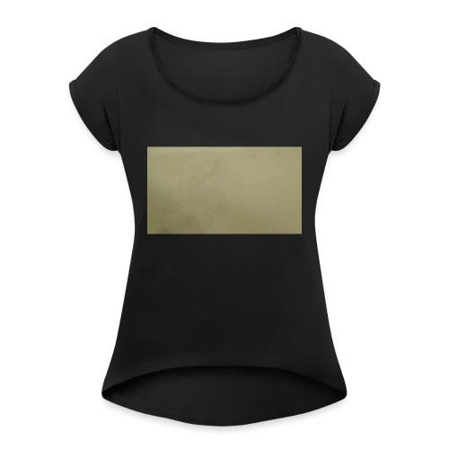 1511416685704631737378Marble t-shirt - Naisten T-paita, jossa rullatut hihat