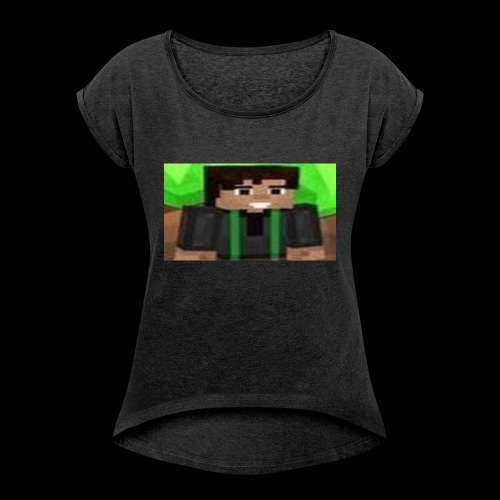 EnZ PlayZ Profile Pic - Women's T-Shirt with rolled up sleeves