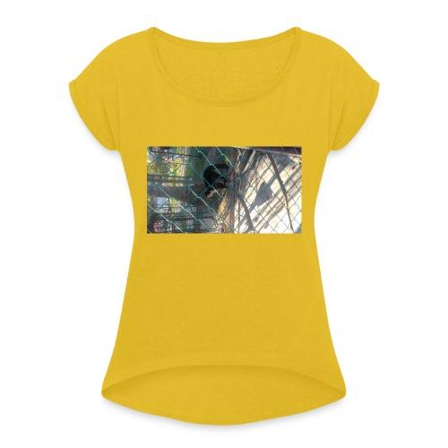 mono - Camiseta con manga enrollada mujer