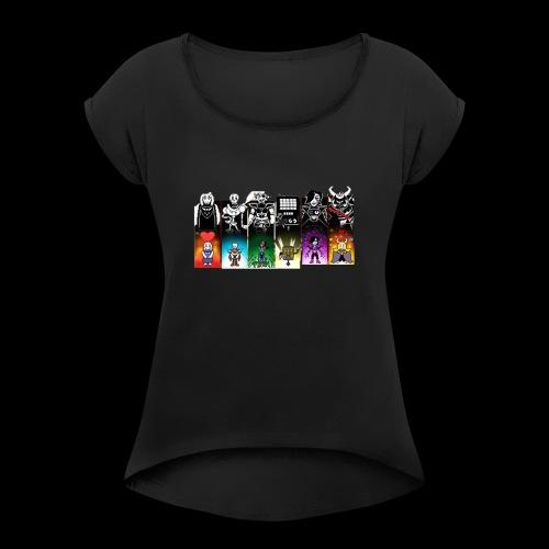 PHOTO - T-shirt à manches retroussées Femme