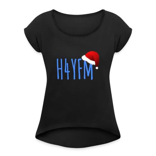 Weihnachts Logo - Frauen T-Shirt mit gerollten Ärmeln
