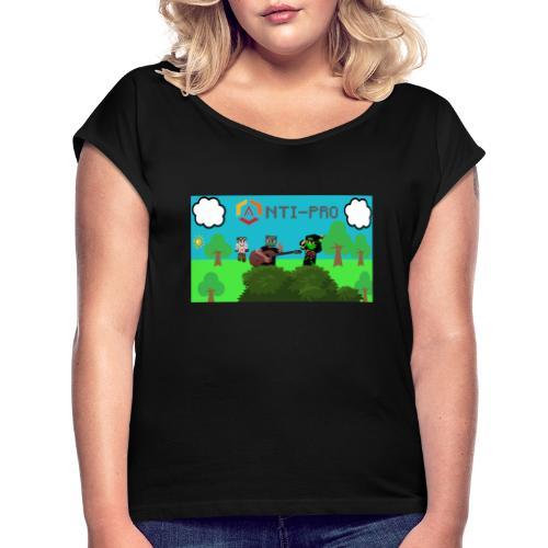 Maglietta Immagine Mario Anti-Pro - Maglietta da donna con risvolti