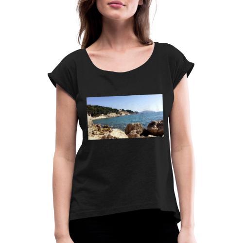 Corniche - T-shirt à manches retroussées Femme
