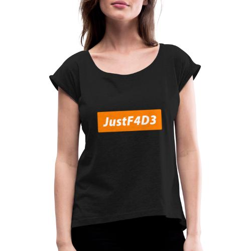 Justf4d3_ - Maglietta da donna con risvolti