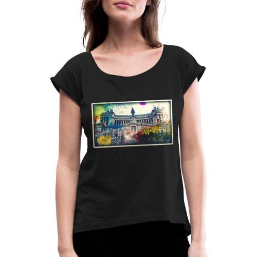 eyeemfiltered1475358770026 - Frauen T-Shirt mit gerollten Ärmeln