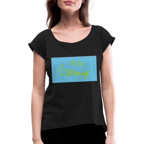 sketch 1571674945943 - T-shirt med upprullade ärmar dam