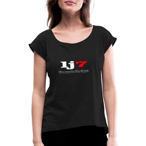the light - T-shirt med upprullade ärmar dam