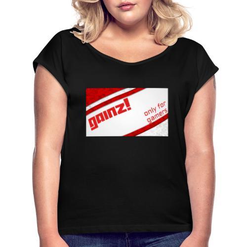 Gainz - Dame T-shirt med rulleærmer