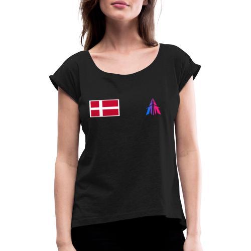Team snyder esport Tshirts - Dame T-shirt med rulleærmer