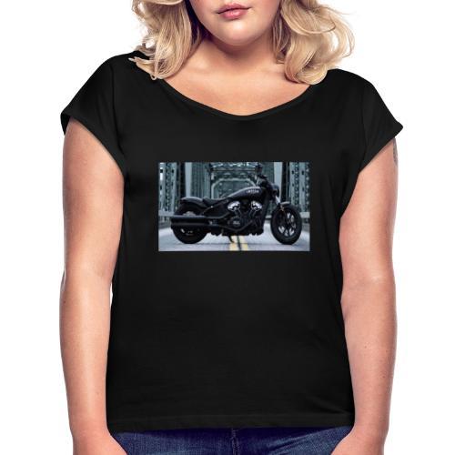 Passione per le moto - Maglietta da donna con risvolti