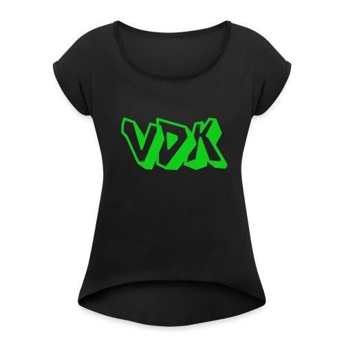 Vdk pet - Vrouwen T-shirt met opgerolde mouwen