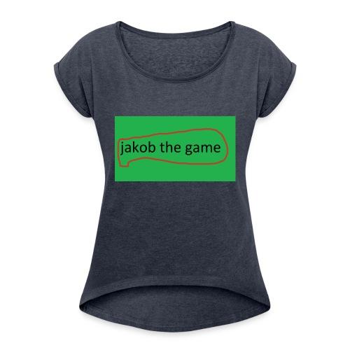 jakob the game - Dame T-shirt med rulleærmer