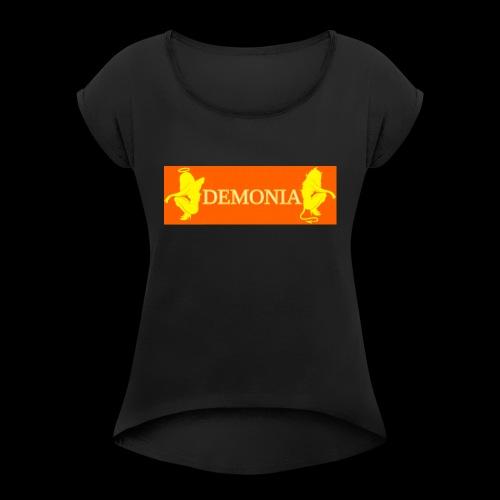 orange Demonia - T-shirt à manches retroussées Femme