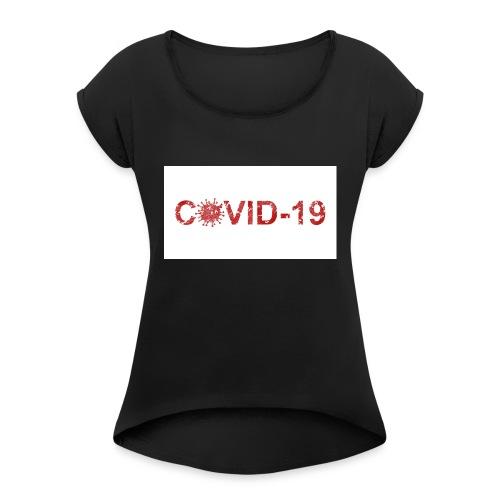 covid 19 - Camiseta con manga enrollada mujer