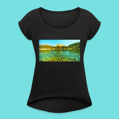Nature (MALE) - Women's T-Shirt with rolled up sleeves