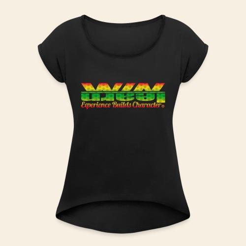 The Weed Logo Tee - Vrouwen T-shirt met opgerolde mouwen