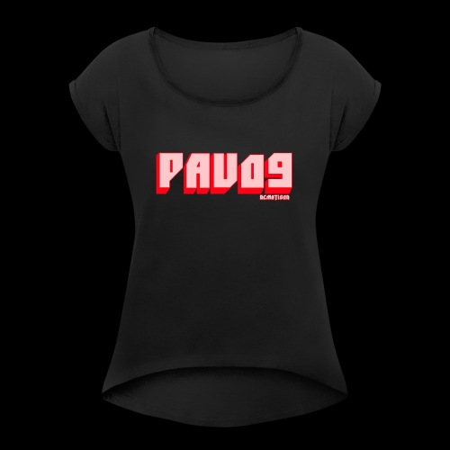 SNAPBACK PAVO9 - Women's T-Shirt with rolled up sleeves