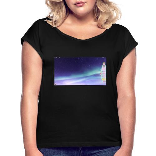 roblox hoodie - Vrouwen T-shirt met opgerolde mouwen