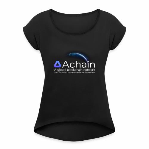 Achain, planet Earth - Maglietta da donna con risvolti