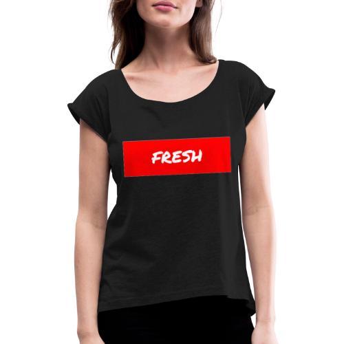 PicsArt 10 02 08 47 13 - Frauen T-Shirt mit gerollten Ärmeln
