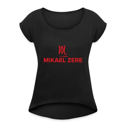 Mikael zere - Frauen T-Shirt mit gerollten Ärmeln