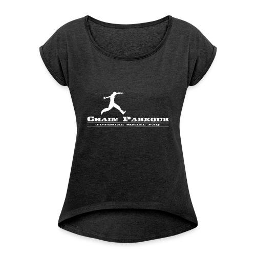 CHAIN PK OFFICIAL - Maglietta da donna con risvolti