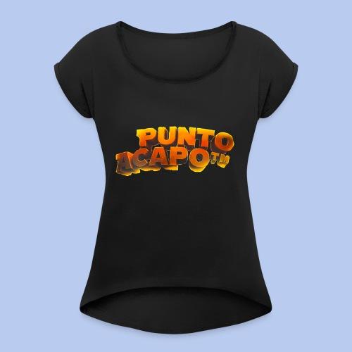 Maglietta PuntoACapo- Original Design- - Maglietta da donna con risvolti