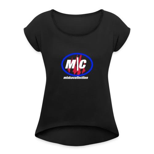 Misko Collection - Frauen T-Shirt mit gerollten Ärmeln