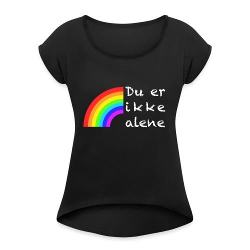 Skam - You're not alone - Koszulka damska z lekko podwiniętymi rękawami