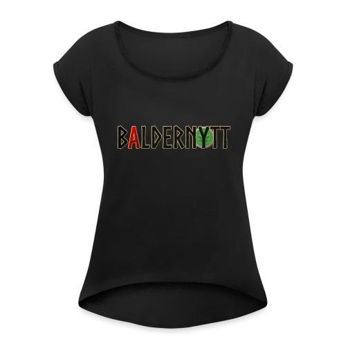 Baldernytt - T-shirt med upprullade ärmar dam