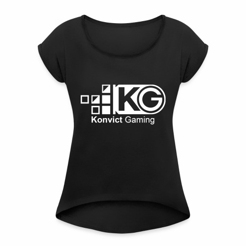 clear large - Women's T-Shirt with rolled up sleeves