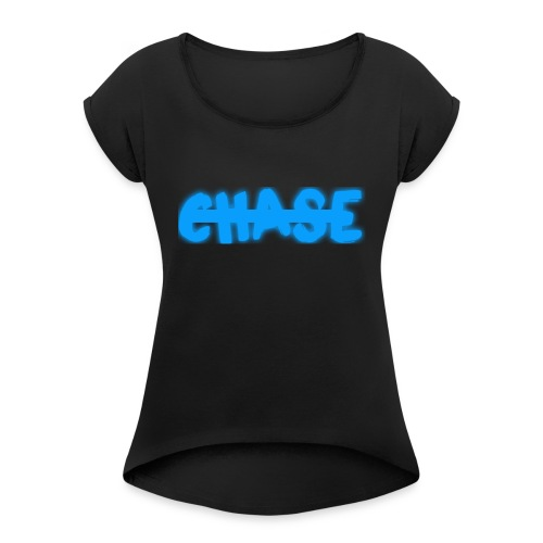 big_chase_bl - Women's T-Shirt with rolled up sleeves