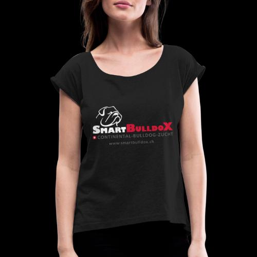 SmartBulldoX Logo Tasche www - Frauen T-Shirt mit gerollten Ärmeln