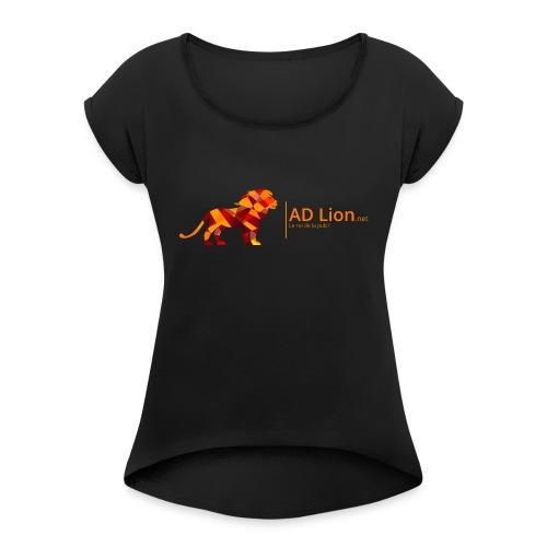 Default Logo - T-shirt à manches retroussées Femme