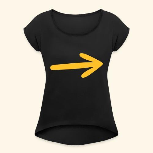 Marca Camino, Flecha - Camiseta con manga enrollada mujer
