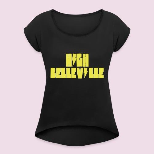 HIGH BELLEVILLE - T-shirt à manches retroussées Femme