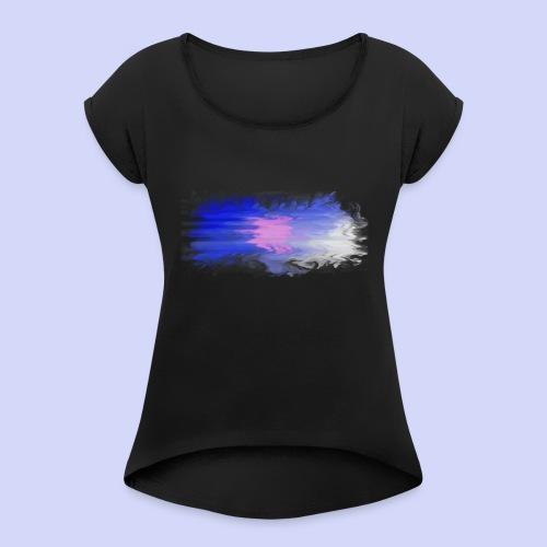 Blue lights - Female shirt - Dame T-shirt med rulleærmer
