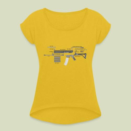 Robinson Armament XCR - Naisten T-paita, jossa rullatut hihat