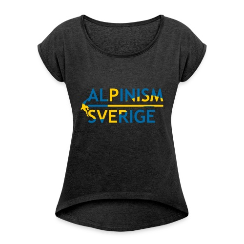 Alpinism Sverige - T-shirt med upprullade ärmar dam