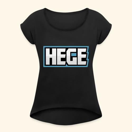 Hegeblau - Frauen T-Shirt mit gerollten Ärmeln